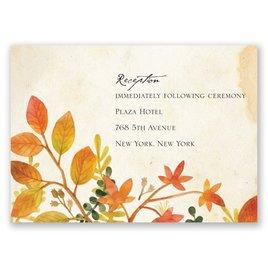 Autumn Hues - Reception Card