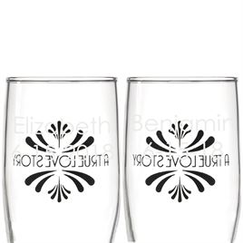 Love Story Toasting Flutes