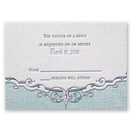 Swirls and Spires - Letterpress Response Card