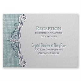 Swirls and Spires - Letterpress Reception Card