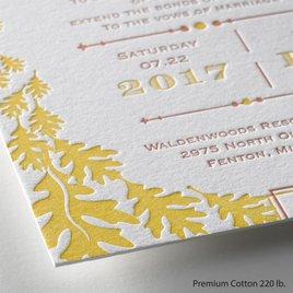 Contemporary Autumn - Letterpress Invitation
