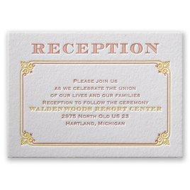 Contemporary Autumn - Letterpress Reception Card
