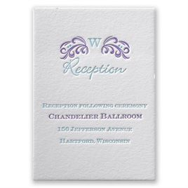 Simply Charming - Letterpress Reception Card