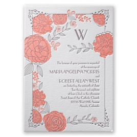 Monogram Wedding Invitations: 