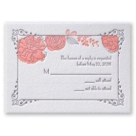 Rose Garden - Letterpress Response Card