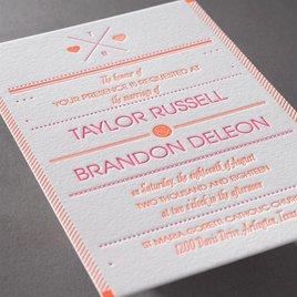 Two Hearts - Letterpress Invitation