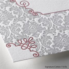 Beautifully Vintage - Letterpress Invitation