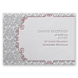 Beautifully Vintage - Letterpress Reception Card