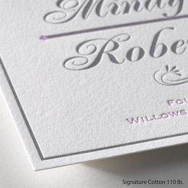 Delightful Details - Letterpress Invitation