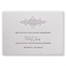 Timeless Elegance - Letterpress Reception Card