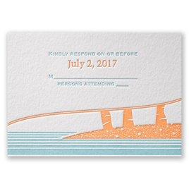 Tropical Escape - Letterpress Response Card
