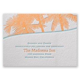 Tropical Escape - Letterpress Reception Card