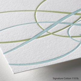 Sweet Swirls - Letterpress Invitation