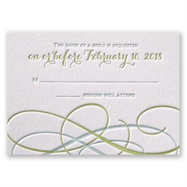 Sweet Swirls - Letterpress Response Card