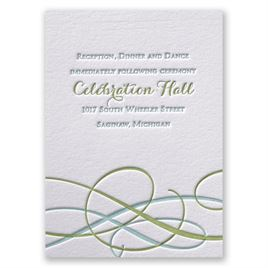 Sweet Swirls - Letterpress Reception Card