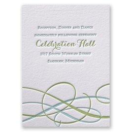 Sweet Swirls - Letterpress Reception Card