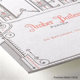 Wedding Details - Letterpress Invitation