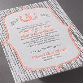 Lucky Us - Letterpress Invitation