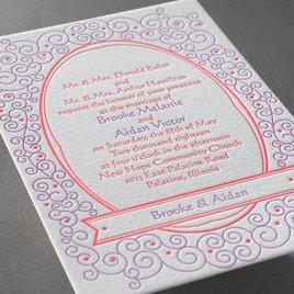 Soft Swirls - Letterpress Invitation