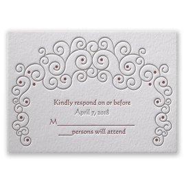 Soft Swirls - Letterpress Response Card