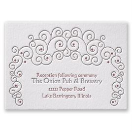 Soft Swirls - Letterpress Reception Card