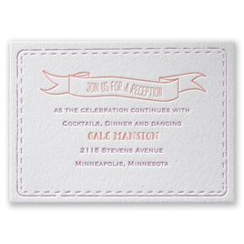 Stitched with Love - Letterpress Reception Card