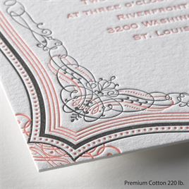 Lavish Layers - Letterpress Invitation