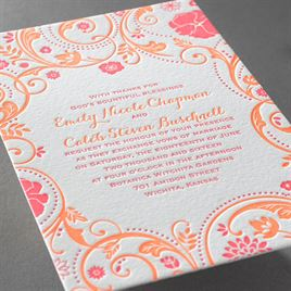 Wild Whimsy - Letterpress Invitation