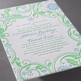 Winter Whimsy - Letterpress Invitation