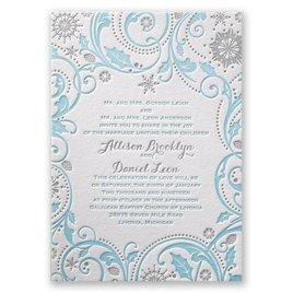 Winter Wedding Invitations: Winter Whimsy Letterpress Invitation
