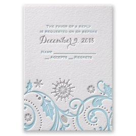Winter Whimsy - Letterpress Response Card