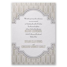 Letterpress Wedding Invitations: 