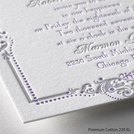 True Beauty - Letterpress Invitation