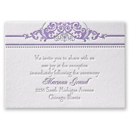 True Beauty - Letterpress Reception Card