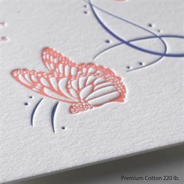 Butterfly Breeze - Letterpress Invitation