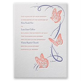 Butterfly Wedding Invitations: 