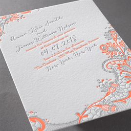Love and Lace - Letterpress Invitation