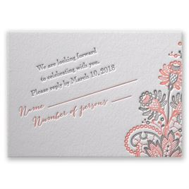 Love and Lace - Letterpress Response Card