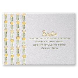 Floral Garland - Letterpress Reception Card