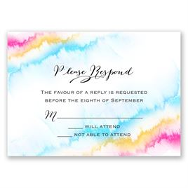 Watercolor Rainbow - Response Card