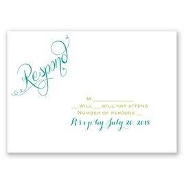 Peacock Calligraphy - Response Card