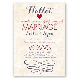 Happy Heart - Vow Renewal Invitation