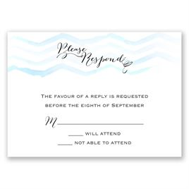 Watercolor Chevron - Malibu - Response Card