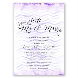 Watercolor Chevron - Orchid - Vow Renewal Invitation