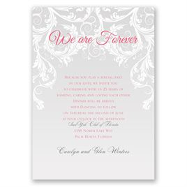 We Are Forever - Vow Renewal Invitation
