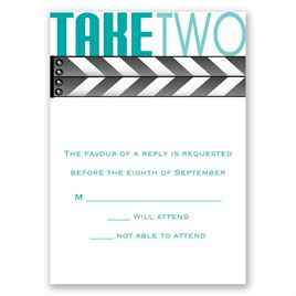 Wedding Response Cards: Take Two Response Card