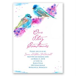 Watercolor Pair - Vow Renewal Invitation