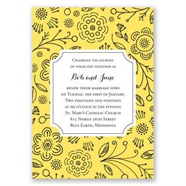 Charming Doodles - Canary - Vow Renewal Invitation