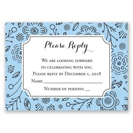 Charming Doodles - Pastel Blue - Response Card