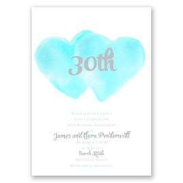 Two Hearts - Surf - Anniversary Invitation